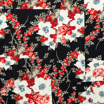 Rag & Bone Red, Black and White Floral Cotton Voile