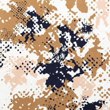 Rag & Bone Beige Abstract Camouflage Cotton Canvas
