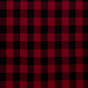 Rag & Bone Reversible Red, Black and Blue Buffalo Check Gauzy Cotton Double Cloth