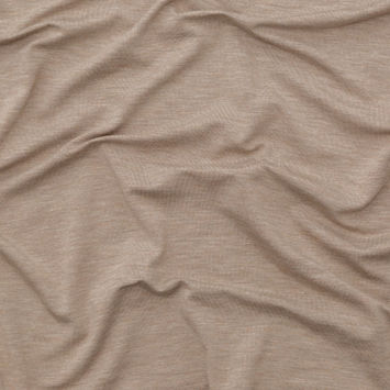 Italian Heather Taupe Stretch Viscose Jersey
