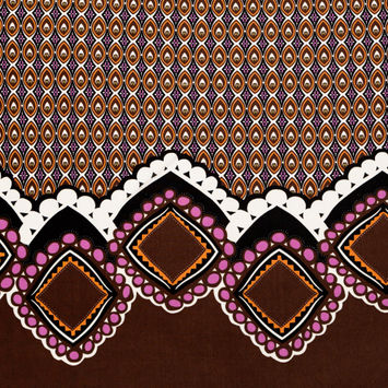 Brown and Purple Geometric Jersey Panel