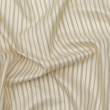 Cream Striped Polyester Lining