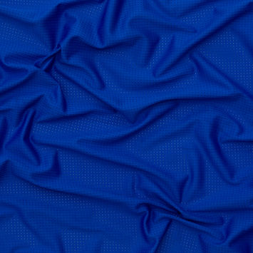 Cobalt Blue Perforated Polyester Knit