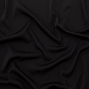 Black Stretch Silk Crepe