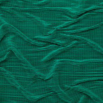 Kelly Green Stretch Pleated Plisse