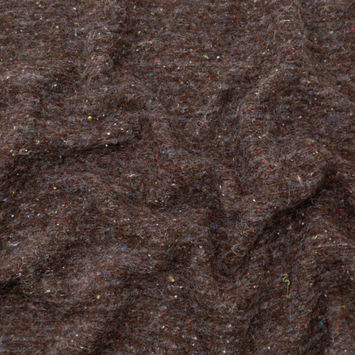 Italian Gray and Brown Speckled Fuzzy Wool Knit