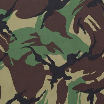 Rag & Bone British Camouflage Printed Cotton and Polyester Peachskin