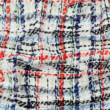 Rag & Bone White Red and Blue Wool Tweed