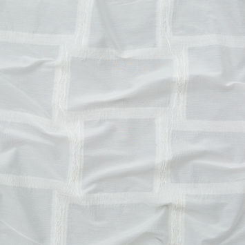 Optic White Lightweight Blended Wrinkled Wool Woven