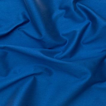 Italian Ocean Blue Blended Rayon Twill