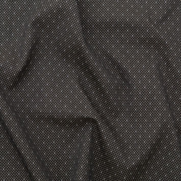 Italian Black and French Taupe Diamond Stretch Jacquard