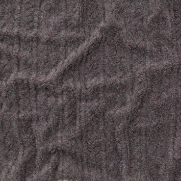 Italian Heathered Gray Chunky Faux Cable Knit