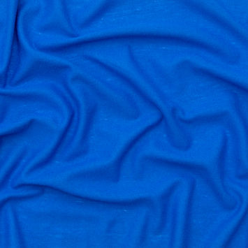 Baleine Blue Blended Stretch Wool Jersey