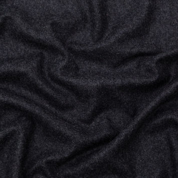 Italian Heathered Dark Gray Wool Coating