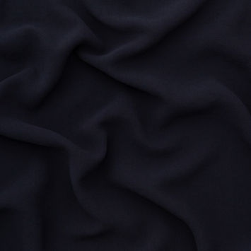 Italian New Navy Stretch Polyester Crepe
