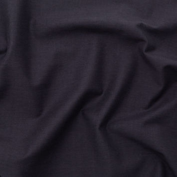 Italian Black Onyx Stretch Cotton Dobby