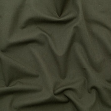 Italian Olive Stretch Cotton Twill