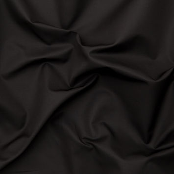 Italian Black Silk and Cotton Dull Satin