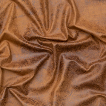 Italian Tobacco Brown Stretch Faux Suede with a Marbled Dark Brown Laminate