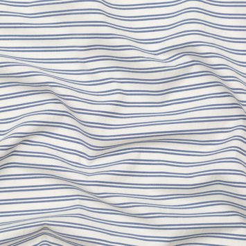 Jason Wu Colony Blue and Marshmallow Striped Cotton Twill