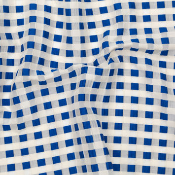 Milly Royal Blue and Gray Morn Checkerboard Burnout