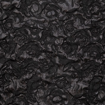 Milly Metallic Black Double Layer Rosey Organza Brocade