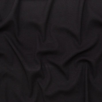 Helmut Lang Black Stretch Viscose 2x2 Rib Knit