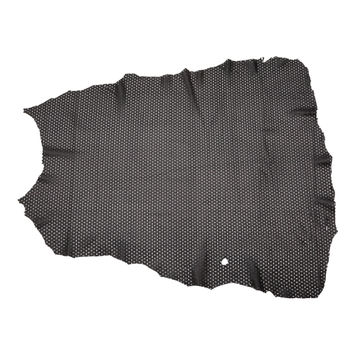Medium Black Perforated Lamb Leather
