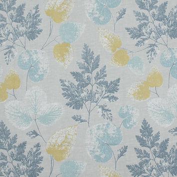 British Imported Indigo Foliage Printed Cotton Canvas