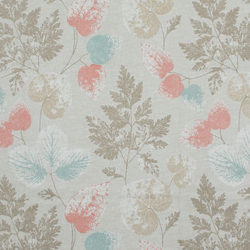 British Imported Coral Foliage Printed Cotton Canvas