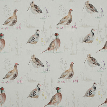 British Imported Gamebird Printed Cotton Canvas