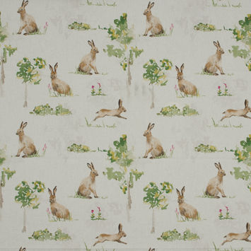 British Imported Hare Printed Cotton Canvas