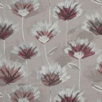 British Imported Rose Painterly Floral Printed Cotton Canvas