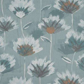 British Imported Spa Painterly Floral Printed Cotton Canvas
