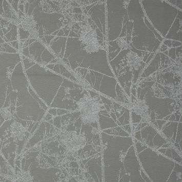 British Dove Cotton Canvas with Printed Abstract Branches