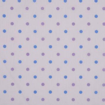 Lilac and Ocean Polka Dot Cotton Batiste