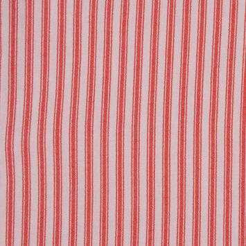 Red Ticking Stripe Cotton Seersucker