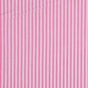 Red and White Striped Cotton Seersucker