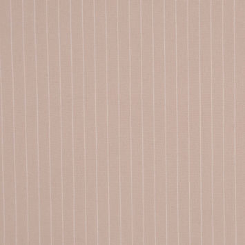 Italian Birch/Fog Pin Striped Smooth Stretch Cotton Suiting
