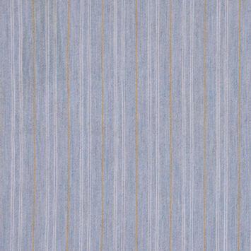 Sky Blue Striped Stretch Cotton Shirting