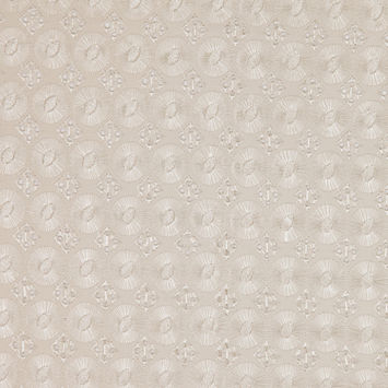 Sand Classically Embroidered Cotton Eyelet
