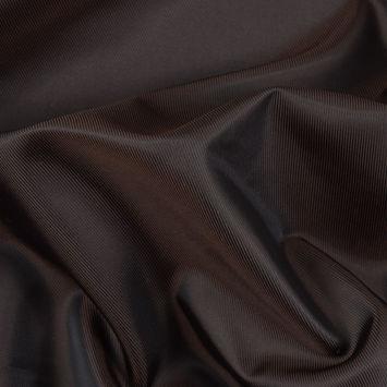 Chocolate/Black Iridescent Twill Lining