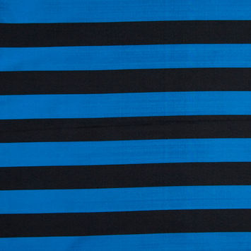 Black/Marine Awning Striped Polyester Taffeta