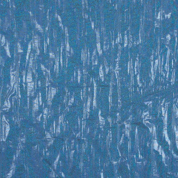 Metallic Blue and Taupe Woven Double Cloth