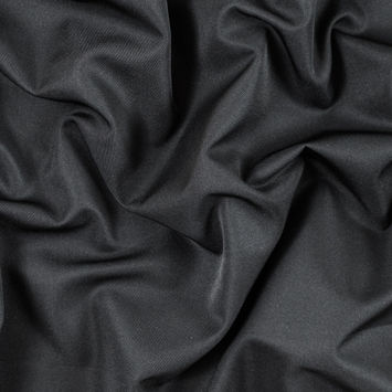 Black Polyester Twill Suiting