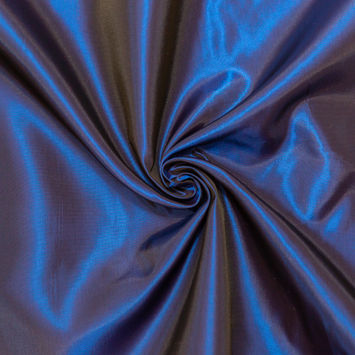 Iridescent Cobalt and Royal Blue Polyester Taffeta