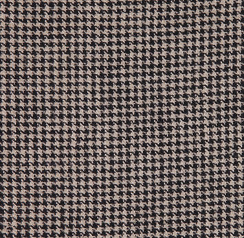 Black and Beige Houndstooth Silk Suiting