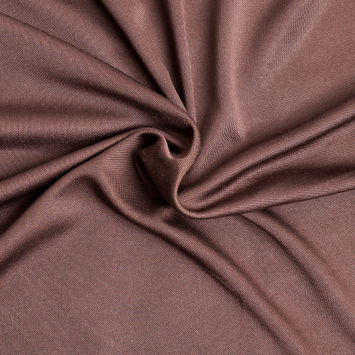 Chocolate Solid Silk Jersey