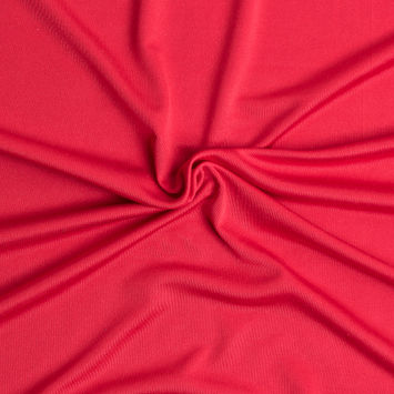 Red Solid Silk Jersey