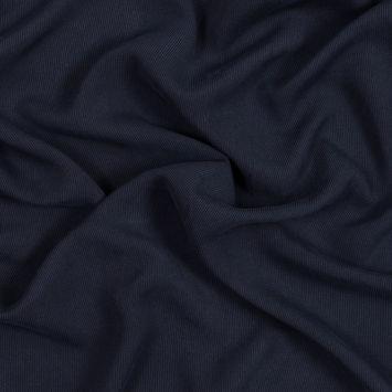 Midnight Navy Washed Silk Ottoman